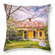 Promoting The Obvious - Paint Sketch Throw Pillow