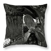 Propeller Of An Old Abandoned Ship Throw Pillow