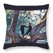 Proposing In A Tree Throw Pillow
