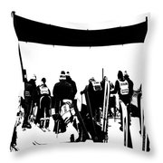 Pros Looking Over The Course Throw Pillow