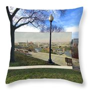 Prospect Terrace In Providence Rhode Island Throw Pillow
