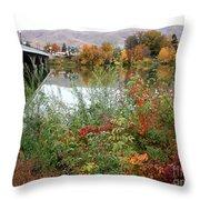 Prosser - Autumn Bridge Throw Pillow