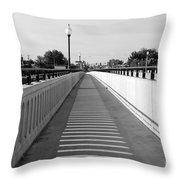 Prosser Bridge Perspective - Black And White Throw Pillow