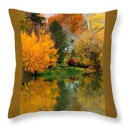 Prosser - Fall Reflection With Hills Throw Pillow