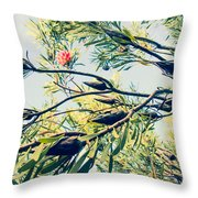 Protea Repens Maui Hawaii Sugarbush Throw Pillow