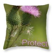 Protect Nature Throw Pillow