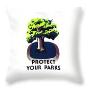 Protect Your Parks Wpa Throw Pillow