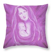 Protecting Love Of The Mother  Throw Pillow