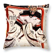 Protecting The Net Throw Pillow