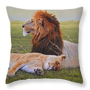 Protecting The Queen Throw Pillow
