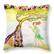 Protection There Throw Pillow