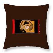 Proto Film Noir Conrad Veidt Cabinet Of Dr. Caligari 1919 Collage Screen Capture 2012 Throw Pillow