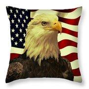 Proud American Throw Pillow