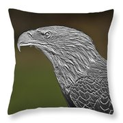 Proud Bald Eagle  Throw Pillow