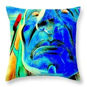 Proud Face Throw Pillow