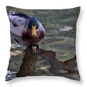 Proud Of My Beak Throw Pillow