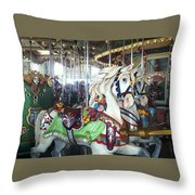 Proud Prancing Ponies Throw Pillow