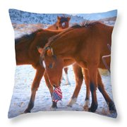Proud To Be An American Icon Of The West Throw Pillow