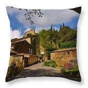 Provencal Village Throw Pillow