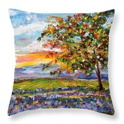 Provence Lavender Fields Throw Pillow