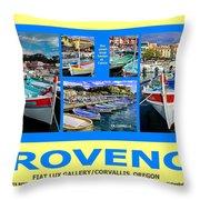 Provence Poster Throw Pillow