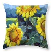 Provence Sunflower Trio Throw Pillow