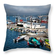 Provincetown Piers Throw Pillow