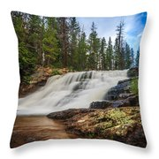 Provo River Falls 2 Throw Pillow