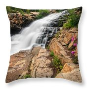 Provo River Falls 3 Throw Pillow