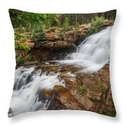 Provo River Falls Throw Pillow