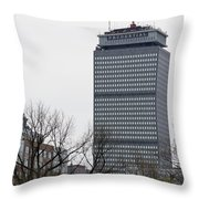 Prudential Tower Throw Pillow