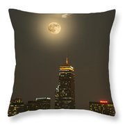 Prudential Tower With Supermoon 2013 Throw Pillow