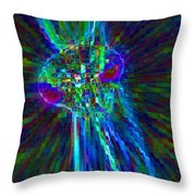 Prying Mantis Throw Pillow
