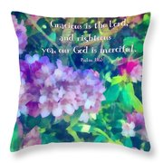 Psalm 116 5 Throw Pillow