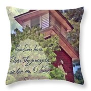 Psalm 119 159 Throw Pillow