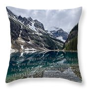 Psalm 121 With Mountains Throw Pillow