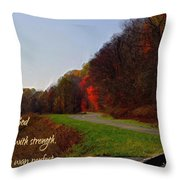 Psalm 18 32 Throw Pillow
