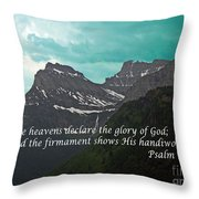 Psalm 19 1 On The Rocky Mountains Throw Pillow