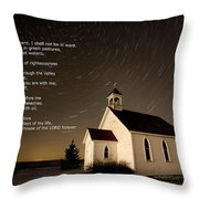 Psalm 23 Night Photography Star Trails Throw Pillow