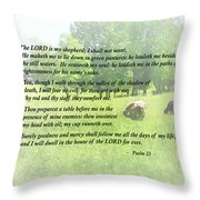 Psalm 23 The Lord Is My Shepherd Throw Pillow