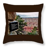 Psalm 68 - Grand Canyon Throw Pillow