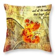 Psalm 9 17 Throw Pillow