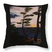 Psalms 136 Verse 7 And 8 Left Panel Throw Pillow