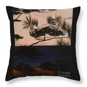 Psalms 136 Verse 7 And 8 Right Panel Throw Pillow