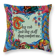 Psalms 23-4b Throw Pillow