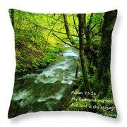 Psalms 73-26 Throw Pillow