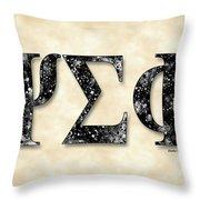Psi Sigma Phi - Parchment Throw Pillow