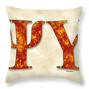 Psi Upsilon - Parchment Throw Pillow