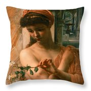 Psyche In The Temple Of Love Throw Pillow