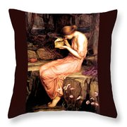 Psyche Opening The Golden Box 1903 Throw Pillow
